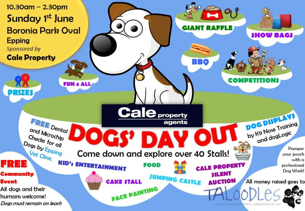 Cale Property Dog's Day Out in support of Taloodles Therapy & Assistance Dogs!