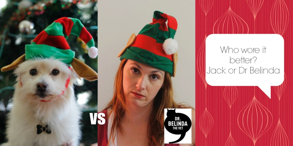 "So who do you think rocked the ""resting bitch face"" elf hat better?"
