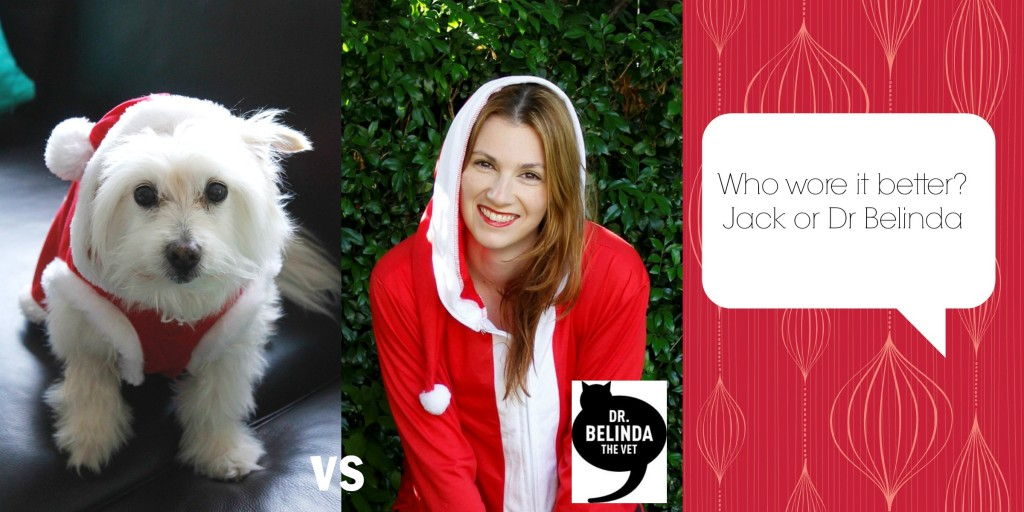 Who wore it better... The happy Santa onsie... Jack or Dr Belinda?